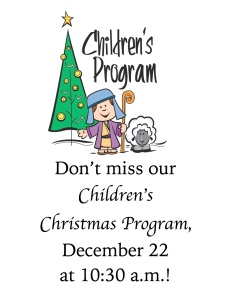 Children Christmas Program