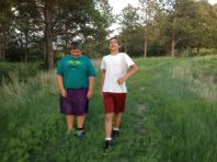 Dustin & David on our hike