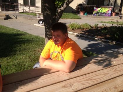 Dustin taking a break