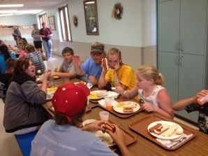 Last meal at camp